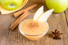 Applesauce with cinnamon Stock Photography