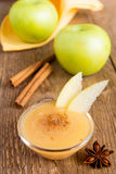 Applesauce with cinnamon Stock Image
