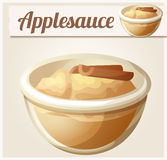 Applesauce. Detailed Vector Icon Stock Photo