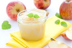 Applesauce in a glass Stock Images