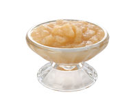 Applesauce in a Glass Bowl (with clipping path) Stock Photos