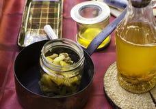 Applesauce and honey Stock Photo