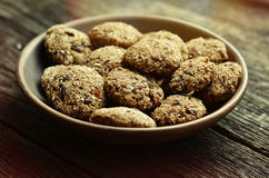 Applesauce oatmeal μπισκότα με τα ξηρά τα βακκίνια Στοκ φωτογραφία με δικαίωμα ελεύθερης χρήσης