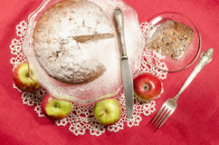 Applesauce raisin rum cake for christmas table Stock Photos