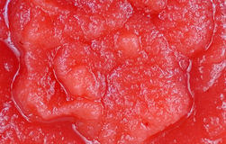 Applesauce Strawberries up Close Royalty Free Stock Images
