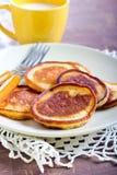 Applesauce thin pancakes Royalty Free Stock Image