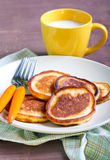 Applesauce thin pancakes Stock Photos