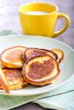 Applesauce thin pancakes Stock Image