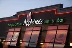 APPLESBEE的食物菜单 库存照片