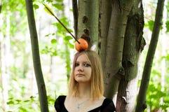 Appleshot με το κορίτσι Στοκ φωτογραφία με δικαίωμα ελεύθερης χρήσης