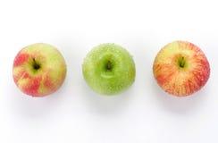 appleswith ύδωρ απελευθερώσεων Στοκ Εικόνες