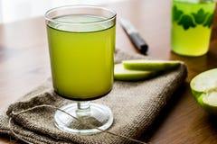 Appletini/πράσινος χυμός της Apple Στοκ Εικόνα