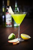 Appletini cocktail Royalty Free Stock Images