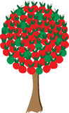 Appletree_red_green illustration libre de droits