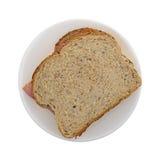 Applewood gerookte ham op een plaat Royalty-vrije Stock Fotografie