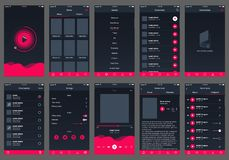 Appli audio de conception d'ui de livre illustration de vecteur