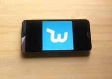 Appli de souhait au téléphone portable image stock