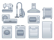 Appliance. Domestic appliance on a white background Royalty Free Stock Images