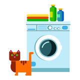Appliance housework machine clothes vector laundry clean illustration clothing. Appliance housework machine clothes vector laundry clean illustration Royalty Free Stock Photos