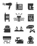 Appliance icon set part two Stock Image