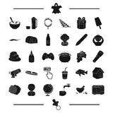 Appliance, nipple and other web icon in black style. circus, purity, magic icons in set collection. Royalty Free Stock Image