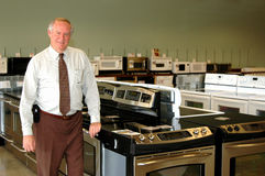 Appliance salesman Royalty Free Stock Photo