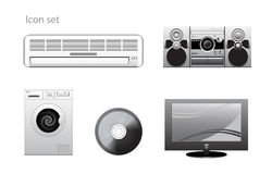 Appliance vector icons set Stock Photo