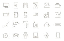 Appliances black icons set. Set of 24 Appliances black icons Stock Images