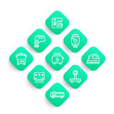 Appliances, consumer electronics line icons set Royalty Free Stock Photo