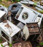 Appliances dump stock photography