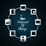 Appliances icon set. Internet of things design. vector graphic Stock Photos