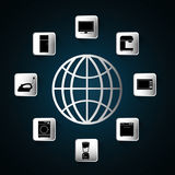 Appliances icon set. Internet of things design. vector graphic Stock Photography