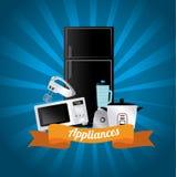 Appliances icons Stock Photo