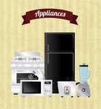 Appliances  icons Stock Images