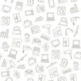 Appliances icons pattern Royalty Free Stock Photo