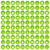100 appliances icons set green circle. Isolated on white background vector illustration Royalty Free Stock Photo