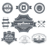 Appliances label template of emblem element for Stock Photo