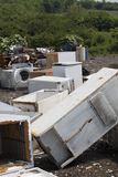 Appliances at the landfill. Old appliances at the landfill site Stock Photography