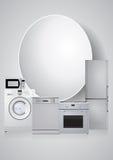 Appliances machine blank area Royalty Free Stock Photos