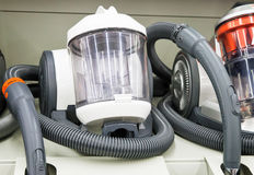 Appliances: powerful modern vacuum cleaner. Royalty Free Stock Images