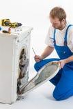 Appliances Repairman Stock Photo