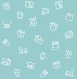 Appliances, seamless pattern, blue-gray. Stock Image