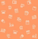 Appliances, seamless pattern, coral. Royalty Free Stock Photos