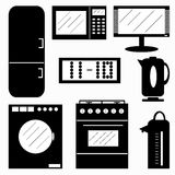 Appliances symbols vector illustration Stock Photo