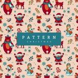 Seamless Pattern Hello Mery Christmas stock illustration