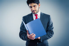 Applicant. Ist holding application blue application folder Royalty Free Stock Photography