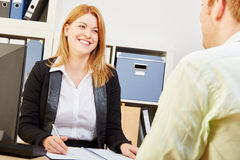 Applicant in a job interview. With interviewer Royalty Free Stock Photos