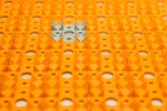 Applicateur de Kuznetsov - aiguilles multicolores en gros plan photo stock
