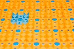 Applicateur de Kuznetsov - aiguilles multicolores en gros plan images libres de droits