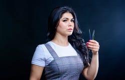 Applicateur de mèche Brucelles professionnelle d'extension de cil Brucelles de Cosmetic de maquilleur Brucelles de prise de visag photos libres de droits